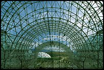 Glass enclosure seen from inside. Biosphere 2, Arizona, USA (color)