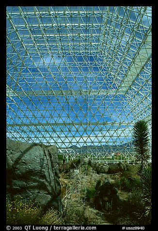Ecosystem enclosed. Biosphere 2, Arizona, USA