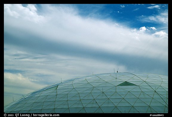 Dome and clouds. Biosphere 2, Arizona, USA