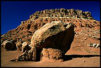 Boulder with hut near Page. Arizona, USA (color)