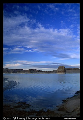 Wahweap Bay at sunset, Lake Powell, Glen Canyon National Recreation Area, Arizona. USA (color)