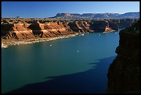 Lake Powell near Hute. Utah, USA (color)