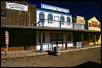 Strip of old west buildings. Arizona, USA ( color)