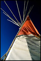 Teepee and blue sky. Arizona, USA