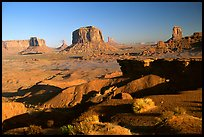 Ford Point, late afternoon. Monument Valley Tribal Park, Navajo Nation, Arizona and Utah, USA ( color)