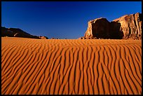 Ripples and mesas. Monument Valley Tribal Park, Navajo Nation, Arizona and Utah, USA ( color)