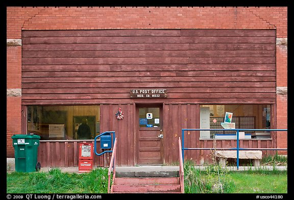 Post office, Rico. Colorado, USA (color)