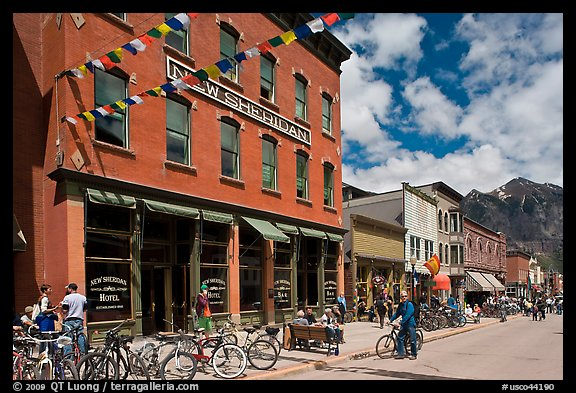 Historic New Sheridan hotel. Telluride, Colorado, USA (color)