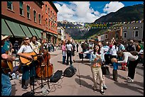 Live musicians on main street. Telluride, Colorado, USA ( color)