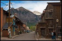Street with old wooden buildings. Telluride, Colorado, USA