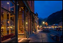 Main street by night. Telluride, Colorado, USA