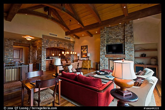 Residence lobby, Peaks resort, Mountain Village. Telluride, Colorado, USA (color)