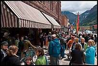 People gathering in front of movie theater. Telluride, Colorado, USA ( color)