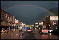 Main street with rainbow. Telluride, Colorado, USA ( color)