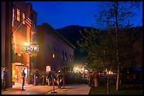 Sheridan opera house entrance by night. Telluride, Colorado, USA ( color)