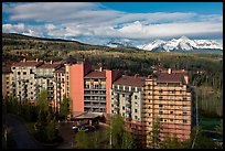 Peaks resort, spring morning. Telluride, Colorado, USA ( color)