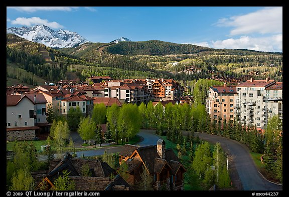Telluride Mountain Village in the spring. Telluride, Colorado, USA
