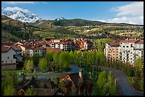 Telluride Mountain Village in the spring. Telluride, Colorado, USA (color)