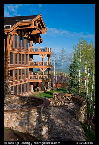 Peaks resort, Mountain Village. Telluride, Colorado, USA (color)