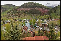 Town and mountains in the spring. Telluride, Colorado, USA ( color)