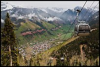 Gondola and valley. Telluride, Colorado, USA ( color)