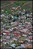 Aerial view of streets and buildings. Telluride, Colorado, USA ( color)