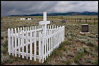 Cemetery, Villa Grove. Colorado, USA (color)