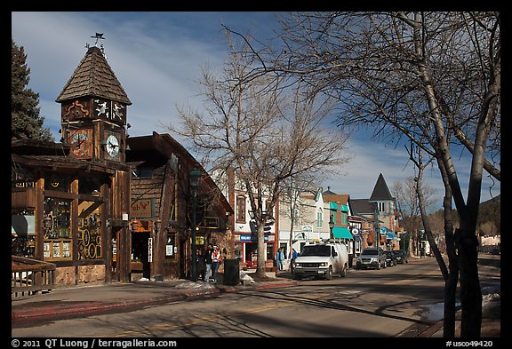 Main street, Estes Park. Colorado, USA (color)