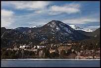 View of Estes Park across Lake Estes. Colorado, USA ( color)