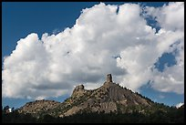 Clouds over Cimarron Range. Chimney Rock National Monument, Colorado, USA ( color)