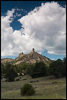 Afternoon clouds over rocks. Chimney Rock National Monument, Colorado, USA ( color)