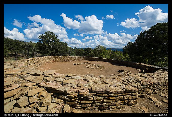 Great Kiva. Chimney Rock National Monument, Colorado, USA (color)