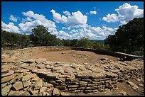 Great Kiva. Chimney Rock National Monument, Colorado, USA ( color)
