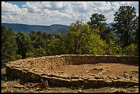 Archeological ruins. Chimney Rock National Monument, Colorado, USA ( color)