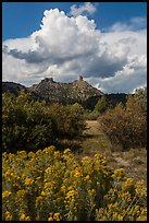 Chimney Rock landscape. Chimney Rock National Monument, Colorado, USA ( color)