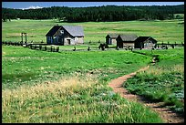 Historic barns,  Florissant Fossil Beds National Monument. Colorado, USA (color)