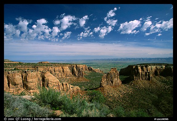 Mesas, Monument Canyon view. Colorado National Monument, Colorado, USA (color)