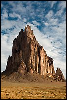 Shiprock (Tse Bit Ai). Shiprock, New Mexico, USA (color)