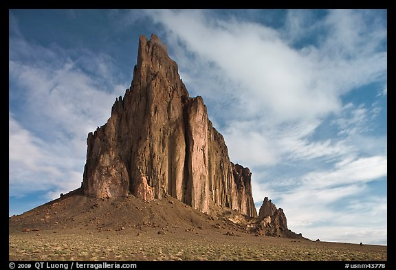 Shiprock diatreme. Shiprock, New Mexico, USA (color)