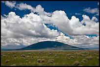 Volcanic hill and clouds. New Mexico, USA (color)