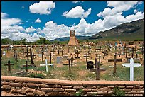 Cemetery and old church. Taos, New Mexico, USA ( color)