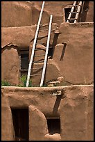 Communal houses of adobe. Taos, New Mexico, USA ( color)