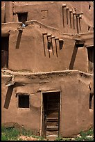Traditional adobe construction. Taos, New Mexico, USA