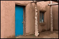 Door and window. Taos, New Mexico, USA (color)