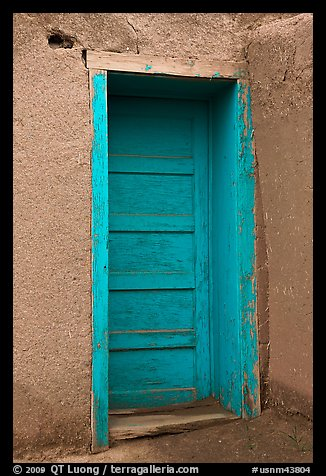 Blue door. Taos, New Mexico, USA