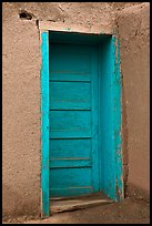 Blue door. Taos, New Mexico, USA (color)