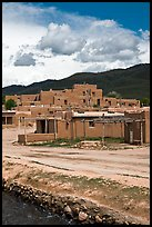 Pueblo dwellings. Taos, New Mexico, USA (color)