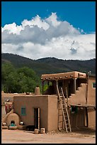 Pueblo house. Taos, New Mexico, USA (color)