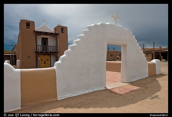 San Geronimo (St Jerome) church. Taos, New Mexico, USA (color)