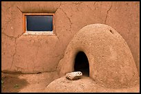 Domed oven and window. Taos, New Mexico, USA